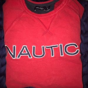 Red Nautica Crew Neck Sweatshirt